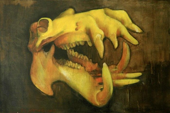 Hippopotamus-Amphibius_oil_100x150cm-